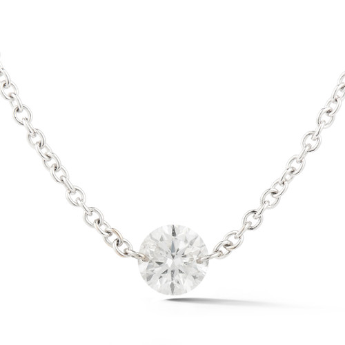 Diamond Solitaire Pendant White Gold