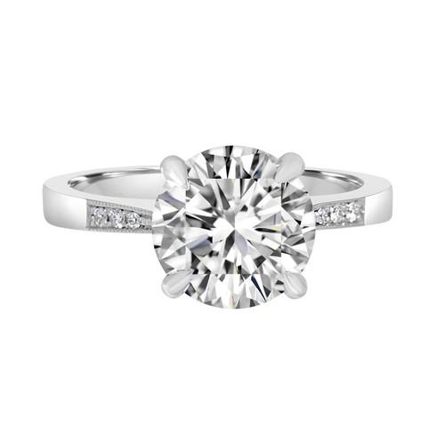 Platinum Solitaire Diamond Engagement Ring-Zambia