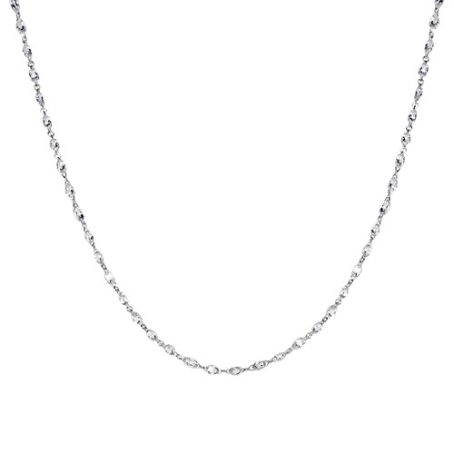 Diamond Briolette Necklace White Gold