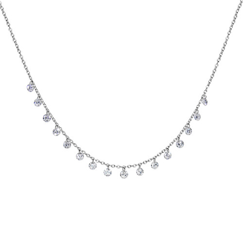 Invisible Diamond Shimmer Mini Necklace