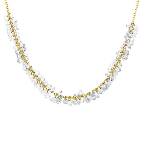 Invisible Diamond Fringe Shimmer Necklace