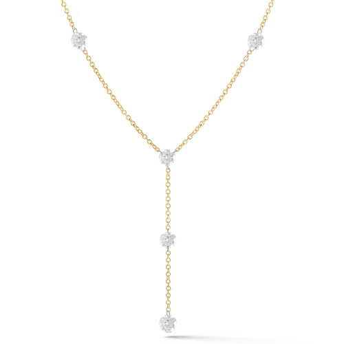 Invisible Diamond Y Necklace
