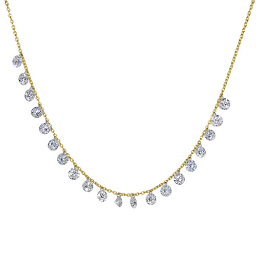 Floating Shimmer Diamond Necklace