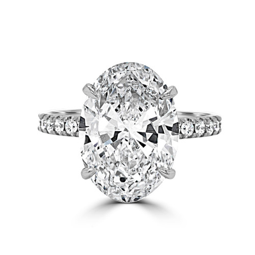 Oval Diamond Engagement Ring with Hidden Halo- Nile