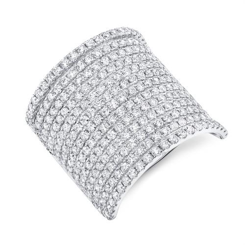 Large Pave Diamond Cocktail Ring