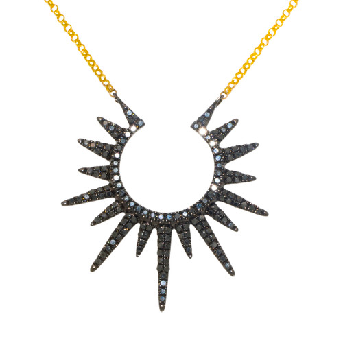 Black Diamond Sun Necklace
