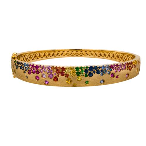 Multi Sapphire Bangle Bracelet