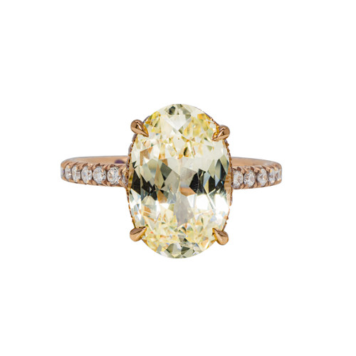 Yellow Sapphire Ring - side