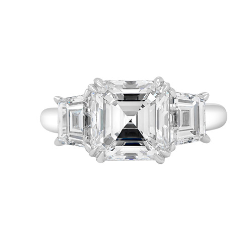Asscher Three Stone Engagement Ring- Praia