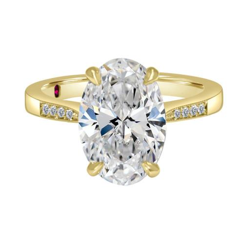 Oval Diamond Engagement Ring Yellow Gold - Zambia