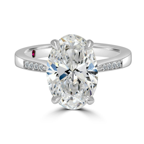 Oval Diamond Engagement Ring- Zambia