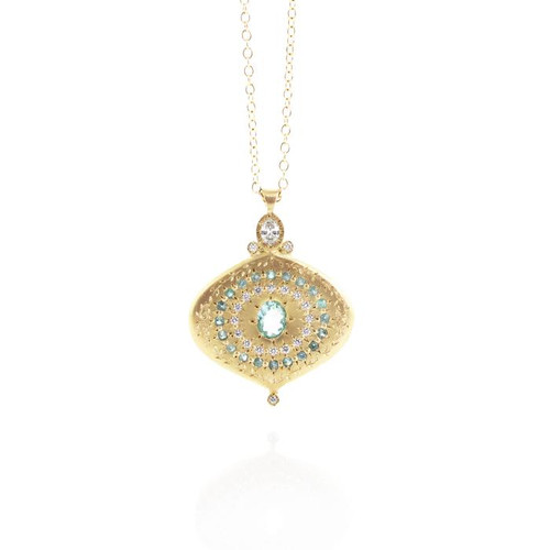 Paraiba and Blue Tourmaline Pendant