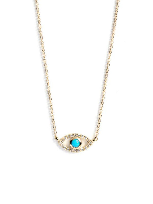 Evil Eye Pendant with Turquoise