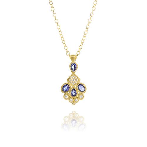 Sapphire and Diamond Charm Pendant
