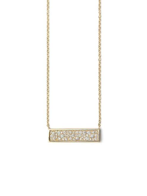 Pave Diamond Plate Necklace