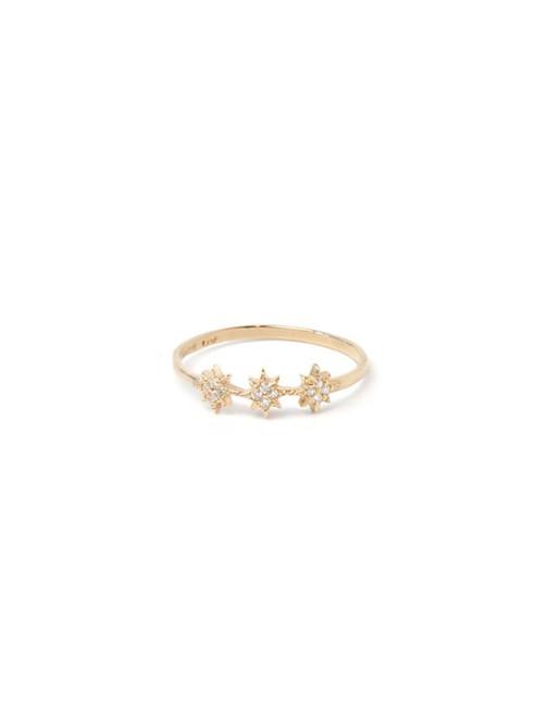 Three Star Diamond Ring