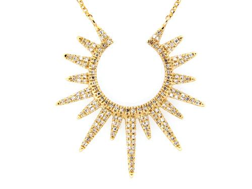 Mini Diamond Starburst Pendant