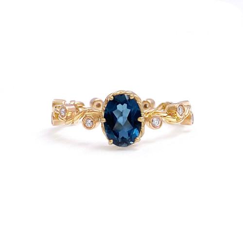 London Blue Topaz Vine Ring