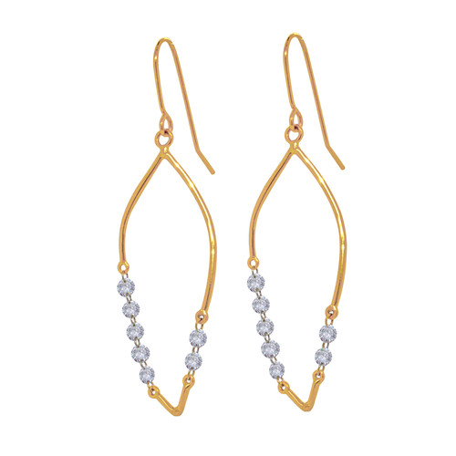 Invisible Diamond Marquise Earrings