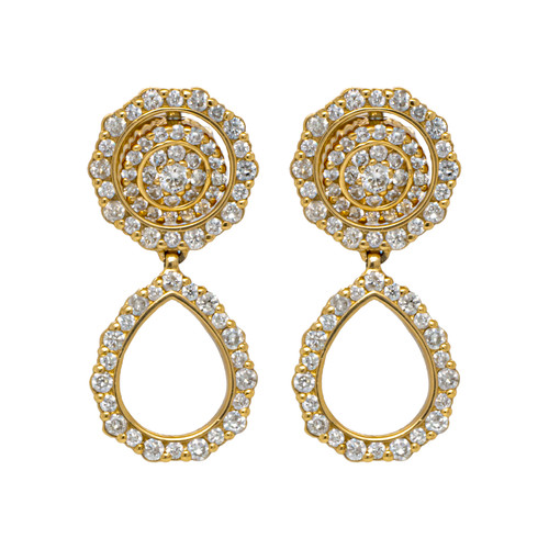 Pleve Convertible Diamond Earrings in Yellow Gold