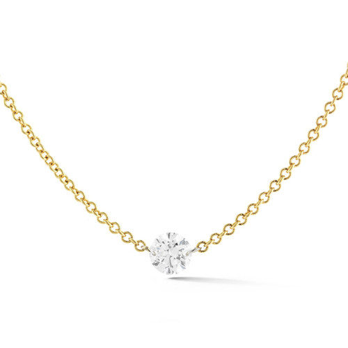 Floating Diamond Solitaire Necklace Dangle