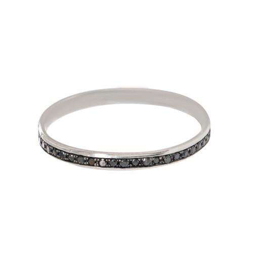Black Diamond Channel Eternity  Ring