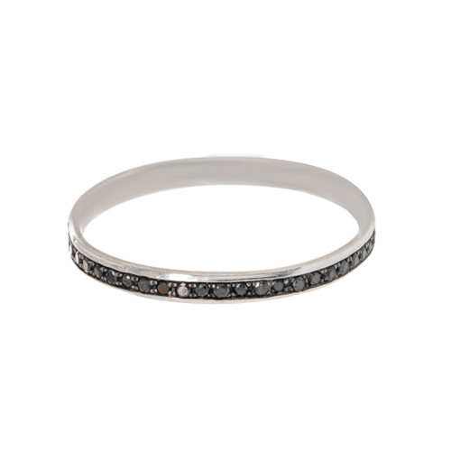 Black Diamond Channel Eternity  Ring