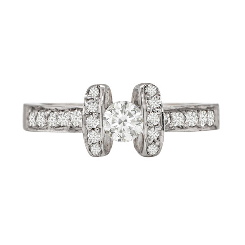 Mini Solitaire Floating Diamond Ring