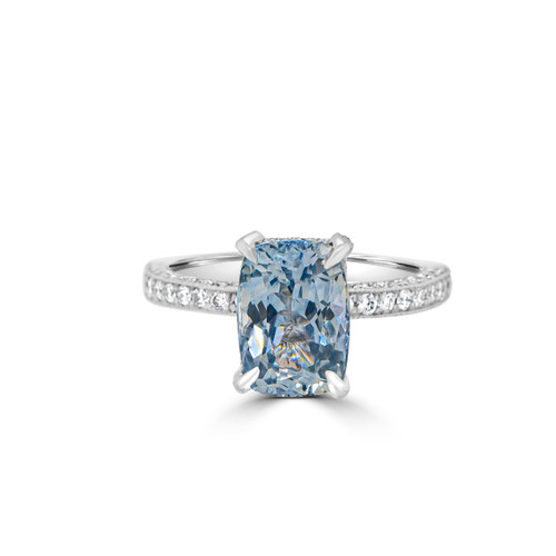 Light-blue-cushion-sapphire-pave-diamond-ring