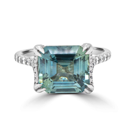 Teal-emerald-cut-sapphire-ring-split-band