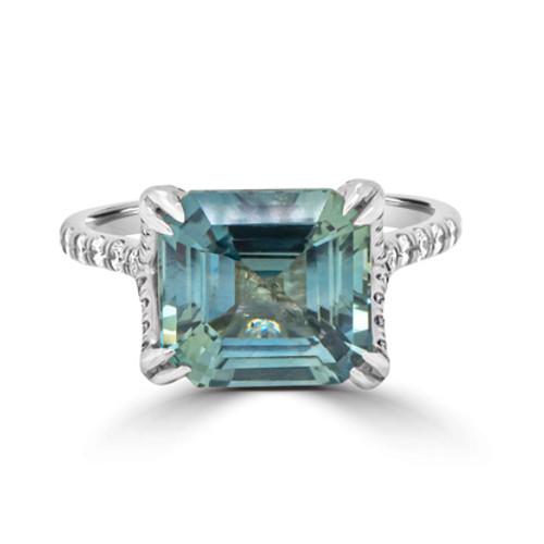 Teal-emerald-cut-sapphire-ring-split-band