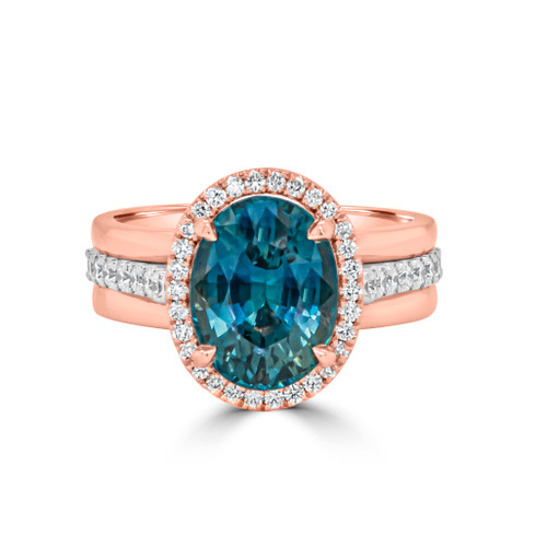 Teal-sapphire-rose-gold-halo-ring