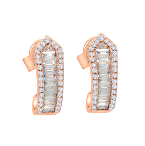 Diamond Baguette Huggy Earrings