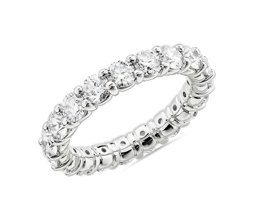 Brilliant Cut Diamond Shared Prong Eternity Ring