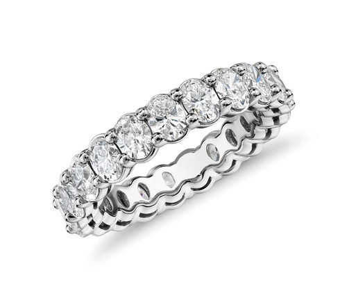 Oval Cut Diamond Prong Eternity Ring