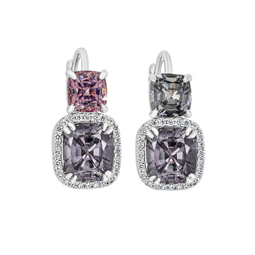 Spinel Lavender Earrings