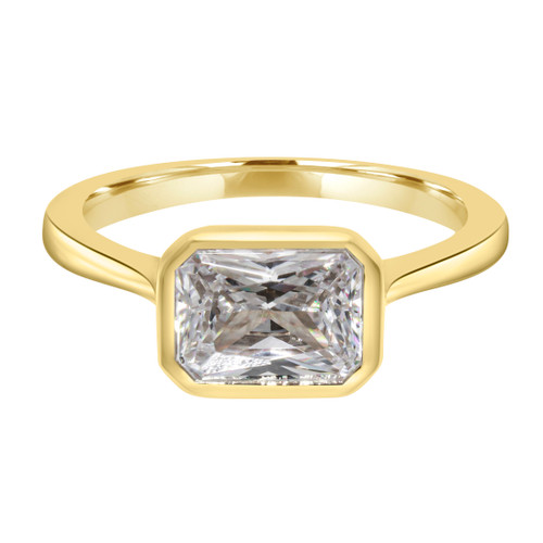 Emerald Cut Diamond Yellow Gold Ring- Reunion