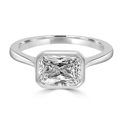 Radiant Cut Diamond Yellow Gold Ring- Reunion