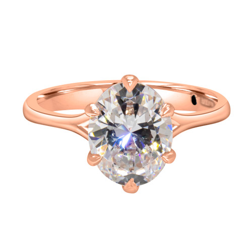 Oval Diamond Rose Gold Solitaire- Ivory Coast
