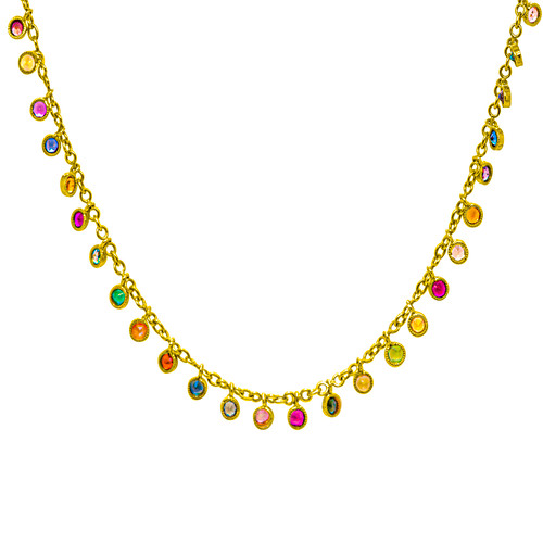 Multi-Stone Shimmer Necklace