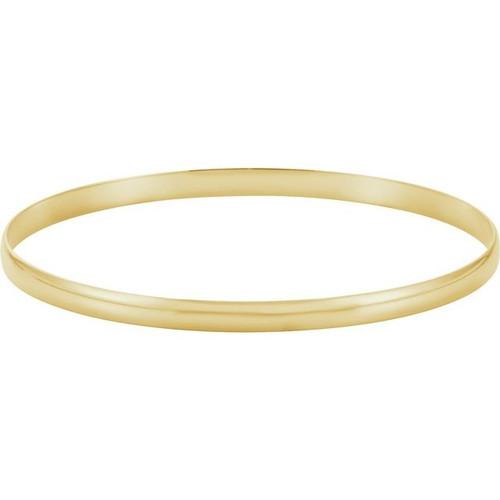 4mm Gold Bangle Bracelet