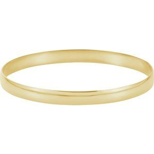 6mm Gold Bangle Bracelet
