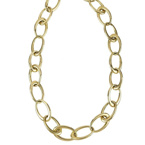 Oval Gold Link Necklace