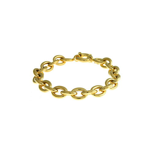 Gold Oval Link Bracelet