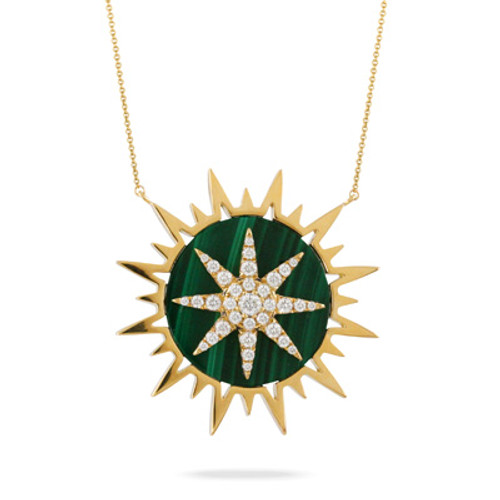 Celestia Star Pendant with Malachite
