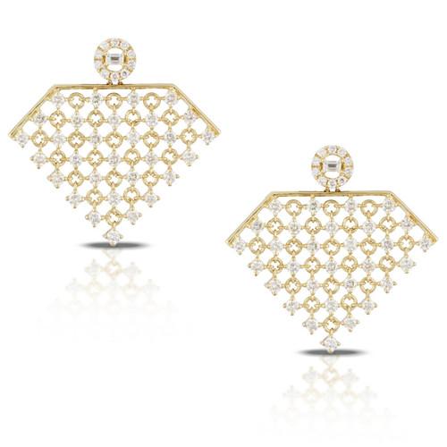 Couture Diamond Chandelier Earrings