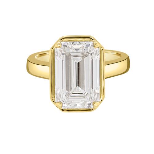 Emerald Cut Diamond Engagement Ring - Zanzibar