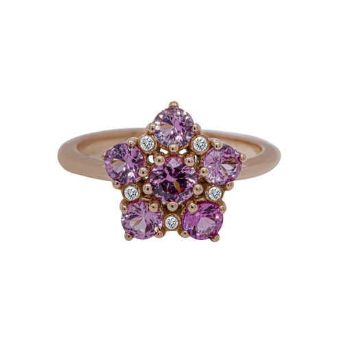 Malaya Garnet Flower Ring