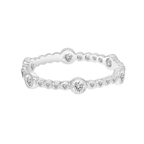 Bezel Eternity Band in White Gold