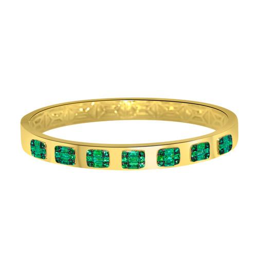 Emerald Bangle YellowGold